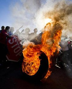 "A Gauteng MEC has condemned as ""hooliganism"" violence that erupted during a service delivery protest in Zandspruit informal settlement, west of Johannesburg. (File, Beeld)"