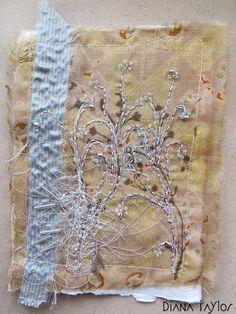 Winter Blue collage by Velvet Moth Studio