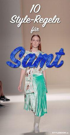 Ohne Frage: Das Material der Stunde heißt Samt! Velvet-Teilen sind DER angesagteste Trend im Moment, alle Streetstyle-Blogs sind voll damit! STYLEBOOK.de zeigt 10 Styles, wie Samt im Herbst 2016 getragen wird.