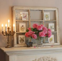 great spring idea for mantel