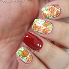 Magically Polished |Nail Art Blog|: Born Pretty Store: Floral Water Decal Review