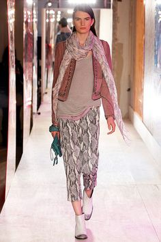 Beautiful colors, nneutral but not fully neutral.  Python print pants??? maybe not yet!