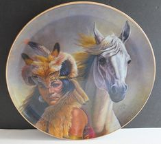 Chief Crazy Horse Collector Plat Gregory Perillo Chieftain Series 1980