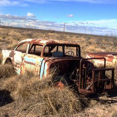 Old 56 Chevy race car wasting away