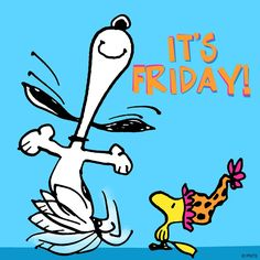 Snoopy and Woodstock Dancing - It's Friday!
