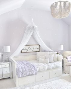 How absolutely lovely is the decor in this lilac room by Double tap if you love it as much as we do! How absolutely lovely is the decor in this lilac room by Double tap if you love it as much as we do! Girls Daybed Room, Girls Bedroom, Bedroom Decor, Ikea Girls Room, Bedroom Ideas, Lilac Room, Purple Rooms, Purple Toddler Rooms, Girls Room Purple