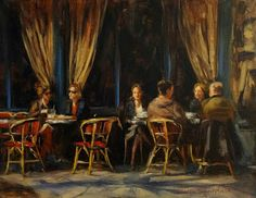 Jonelle Summerfield Oil Paintings: Paris Cafe