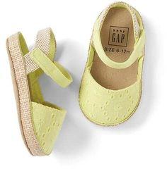 Eyelet espadrille sandals
