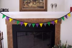 New Years Banner fabric bunting fabric by BorgmannsCreations