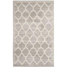 Amherst Light Gray / Ivory Indoor/Outdoor Area Rug