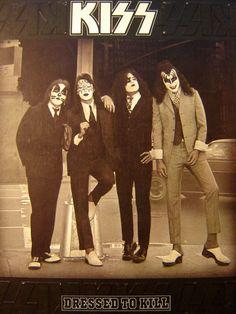 Kiss - Dressed To Kill LP - 1975 - Casablanca NBLP 7016 - Vintage Vinyl LP Record Album