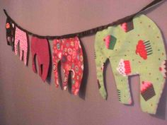 Elephant bunting, Made by Sewin'Love Bunting, Elephants, Craft Ideas, Decorations, Crafts, Bags, Accessories, Handbags, Garlands
