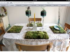 Love these moss placemats!