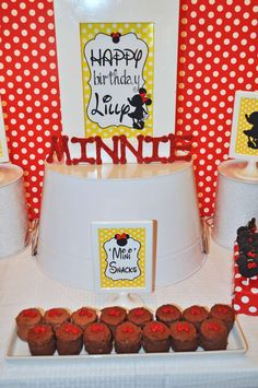 Mickey Mouse Clubhouse or Minnie Mouse Birthday Party Ideas | Photo 18 of 42