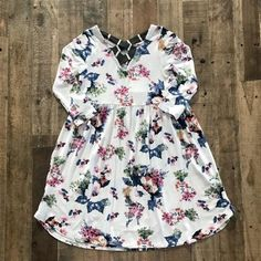 AdoreWe - Mommys Little Sunshine Floral Baby Doll Tunic Dress - AdoreWe.com