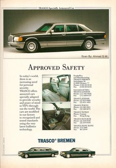 Mercedes-Benz - The Best or Nothing - - The Modern Styled - 🇨🇦😁 Mercedes Benz W126, Mercedes 220, Merc Benz, Benz S, Mercedez Benz, Car Brochure, Classic Mercedes, Armored Vehicles, Car Pictures