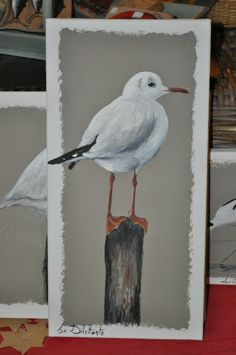 Mouette rieuse Plus Acrylic Painting Techniques, Painting Lessons, Painting On Wood, Beach Watercolor, Watercolor Paintings, Watercolor Cards, Watercolours, True Art, Beach Art