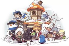 This is a gallery of official artwork done by Nexon and its various servers. Please check the FAQ first before sending an ask. Game Character, Character Concept, Character Design, Maplestory 2, Chibi Characters, Kawaii Anime, Illustration Art, Digital Art, Animation