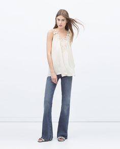 Image 1 of CROCHET FRONT TOP from Zara