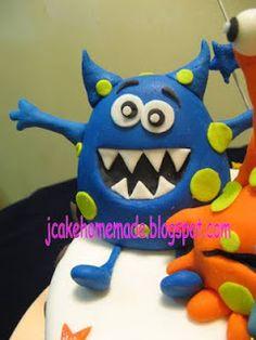 Jcakehomemade: Little Monster birthday cake
