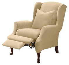 Stretch Pique Wing Recliner Slipcover - Sure Fit : Target