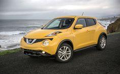 Lataa kuva Nissan Juke, 4k, 2017 autot, jakosuotimet, keltainen Juke, japanilaiset autot, Nissan