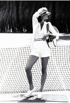 Tennis whites, why don't the pros do it like this anymore? It's so gorgeous.
