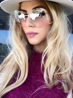 "Vintage Oversized RIMLESS ""SALMA"" Round GOLD ARM Retro Clear Lens Eyeglasses #FashionDeals #CayEye"