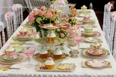 A Series Of Tea-rrific Tea Party Ideas Tea Party Themes That Impress & garden tea bridal shower | Afternoon tea parties afternoon tea ...
