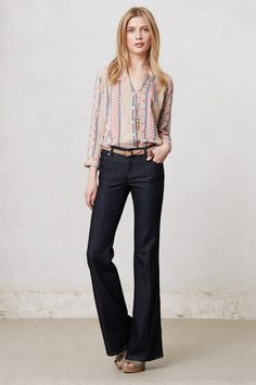 throwback lovely.   Level 99 Newport Wide-Legs - Anthropologie.com