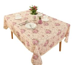HIGHFLY Vintage Flower Decorative 55 Rectangle Linen Tablecloth Printed Pattern Washable Table Cloth Dinner Kichen Home Decor - Multi Colors & Sizes Linen Tablecloth, Tablecloths, Living Room 80s, 80s Interior Design, Vintage Flowers, Vintage Floral, Furniture Decor, Kitchen Furniture