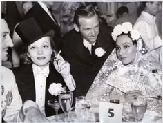 from left to right: Basil Rathbone, Marlene Dietrich, Douglas Fairbanks Jr. and Dolores Del Rio