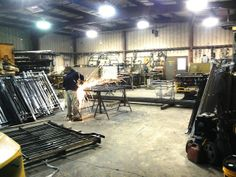 Wrought Iron Railing Welding in our shop