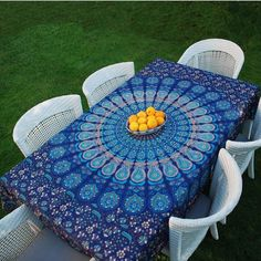 """Our Mandala Tapestries are 95"""" x 80"""" 100% organic Cotton, Hand Screen Printed @vivi_and_sam www.viviandsam.com #mandala #homedecor #landscape #blue #boho #hippie #gypsy #zen #tablecloth #tapestry #wallhanging #picnic #eventplanner #event #wholesale #florida #gville #gnv #352 (at Gainesville, Florida)#christmasgift #christmastime #Christmas #giftideas #bedroomdecor #bedsheet #wallhanging #cute#love"""