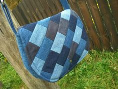 Love this patchwork denim purse