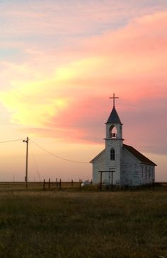 Beautiful Church At Sunset In Badlands