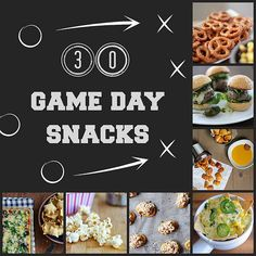 30 Game Day Snacks: 30 recipes from around the web for great game day snacks to put your Super Bowl party over the top.