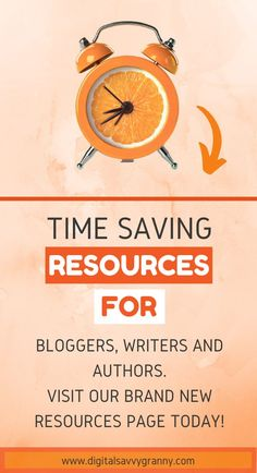 We can all agree that time is precious. Making full use of the time we have and getting the maximum benefit from time spent, is a winning formula. Using time saving tools and resources will fast-track you even more. Visit our resources page and see which of our recommendations will suit you best. #bloggingresources #authorsresources #writingtools #timesavingtools