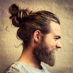 Messy Man Bun With Beard