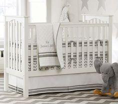Harper Chevron Nursery Bedding Set #PotteryBarnKids