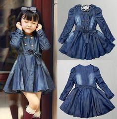 High Fashion Coat sold by Little Ones on Storenvy Stylish Dresses For Girls, Frocks For Girls, Little Girl Outfits, Little Girl Dresses, Toddler Girl Outfits, Kids Outfits, Girls Dresses, Baby Frocks Designs, Kids Frocks Design