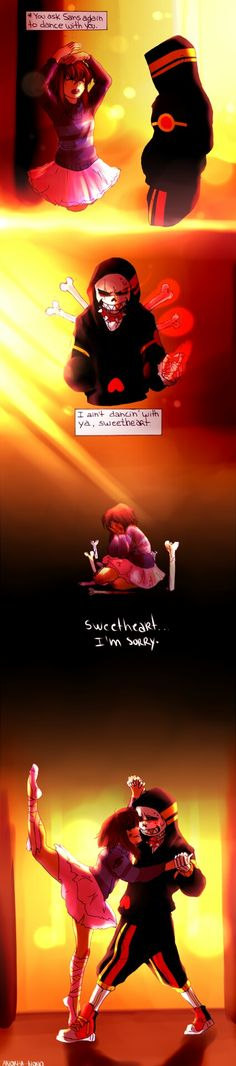 even though I'm not a fan of Sans x Frisk, I love this because It's just so sweet dancetale,sans,frisk,frans,sans x frisk