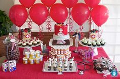 Nursing School Graduation {Dessert Table} A party is definitely in order after many grueling years of hard work! A medical/nursing school themed party will do… Nurse Grad Parties, Nurse Party, School Parties, Graduate School, Nursing School Graduation, Medical School, Graduation Desserts, Graduation Party Decor, Graduation Ideas