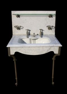 MARBLE BASIN / SINK UNIT ON STAND C. 1900 - UK Architectural ...