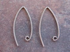 2 Bali Sterling Silver Twisted Rope by LindenAvenueDesigns on Etsy, $2.65