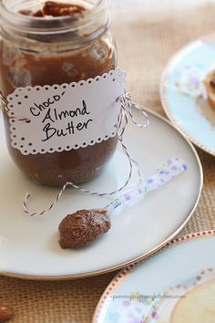 Chocolate Almond Butter recipe. So good and healthier than store bought.