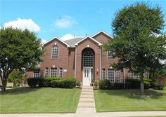 Home for sale in Frisco, TX with a pool on a corner lot!