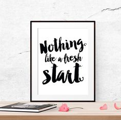 Fresh start, Motivational poster, New beginnings, 2016 resolutions, New years resolution printable, Fitness motivation, Typography quote by LUCIAandLUCIANA on Etsy