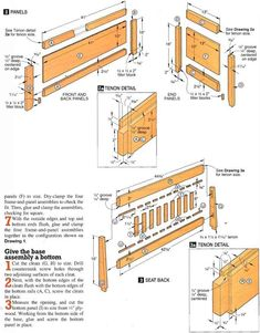 Start with the front, back, and end panels Note This sturdy piece was designed to function as a typical deacon's bench. If you plan to use it for toy storage Wood Futon Frame, Deacons Bench, Continuous Hinges, Panel Saw, New Homeowner, Wood Screws, Toy Storage, Beds, Woodworking