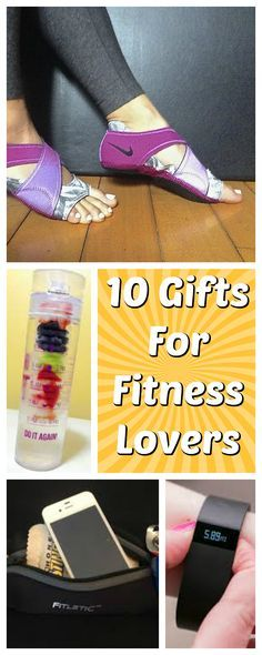 10 Gift ideas for any fitness lover!